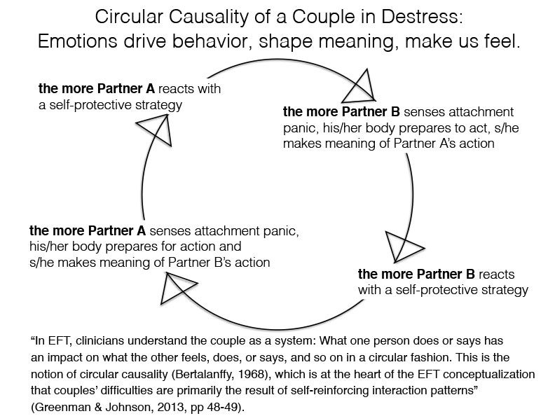 Circular Causality of a Couple in Distress